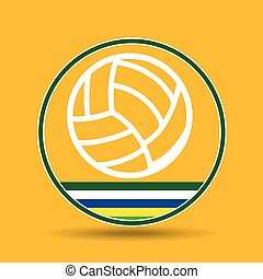volleyball sport badge icon