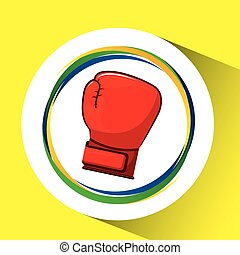 glove boxing olympic games brazilian flag colors vector...