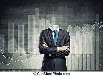 Businessman without head - Headless businessman with arms...
