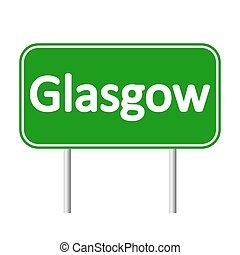 Glasgow road sign. - Glasgow road sign isolated on white...