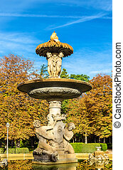 Alcachofa Fountain in the Buen Retiro Park - Madrid