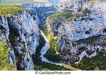 Verdon Gorge in France. Alpes-de-Haute-Provence, France.