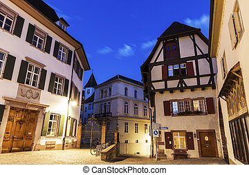Munsterplatz in Basel. Basel, Basel-Stadt, Switzerland.