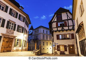 Munsterplatz in Basel. Basel, Basel-Stadt, Switzerland.