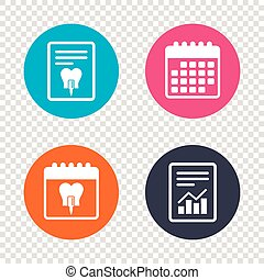 Tooth implant sign icon. Dental care symbol. - Report...