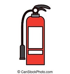 Isolated extinguisher of emergency design - Extinguisher...