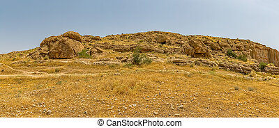 Persepolis hill panorama - Hill and nature by the royal...