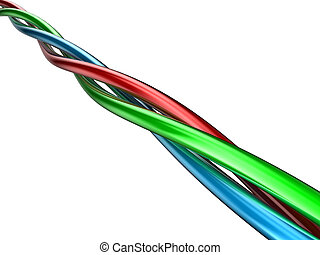 Wires - Illustration of wires of the different colour...