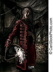 noble brave dead pirate - Portrait of a noble brave dead...