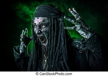 bloody buccaneer - Horror novel character. Aggressive angry...