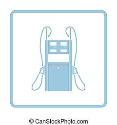 Fuel station icon. Blue frame design. Vector illustration.