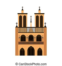 cathedral notre dame icon vector illustration design