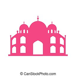 Basilica of Rome landmark icon vector illustration design