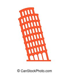 piza tower italy icon vector illustration design