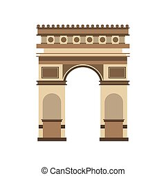 arch of triumph landmark icon vector illustration design