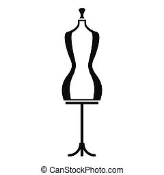 Mannequin icon, simple style