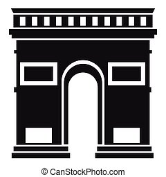 Triumphal arch icon, simple style - Triumphal arch icon....