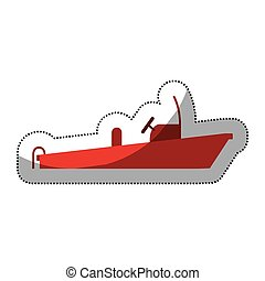 Isolated red boat of emergency design - Red boat icon....