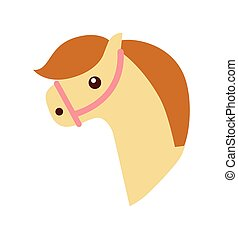 cute horse toy icon