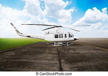 Helicopter Parking At The Airport - Helicopter parking on...