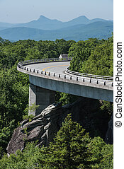 Linn Cove Viaduct Bends in Summer