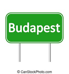 Budapest road sign. - Budapest road sign isolated on white...