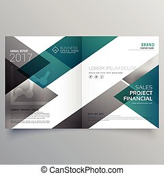 creative booklet cover page deisgn template with geometric...