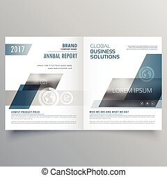company business cover page bifold brochure template design