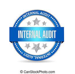 Internal Audit seal sign concept illustration design graphic