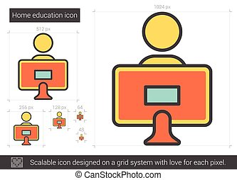Home education line icon. - Home education line icon for...