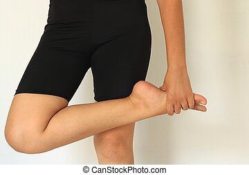 Foot Pain and Legs of Woman
