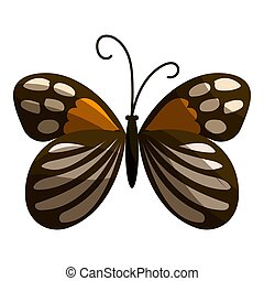 Spotted butterfly icon, cartoon style - Spotted butterfly...