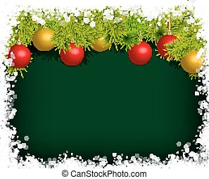 Christmas or New Year decoration background fur-tree...