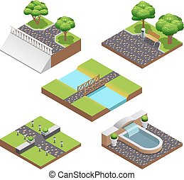 Landscaping Isometric Compositions - Landscaping isometric...