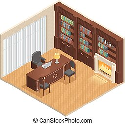 Isometric Luxury Interior - Isometric luxury interior for...