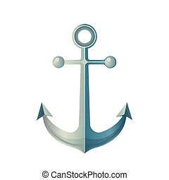 Anchor Isolated on White. Made of Metal Device - Anchor...