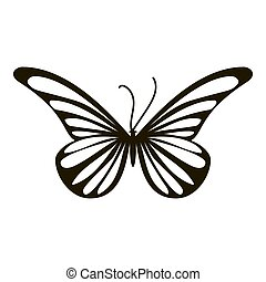 Moth butterfly icon, simple style