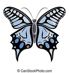 Light butterfly icon, cartoon style - Light butterfly icon....