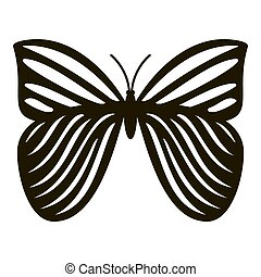 papillon, icône,  Style,  megaloptera,  simple