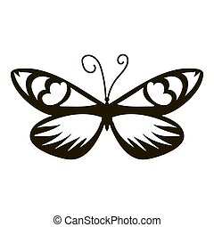 papillon, icône,  Style,  simple,  air