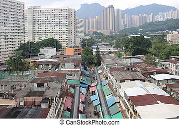 the Ngau Chi Wan Village - Ngau Chi Wan Market with many...