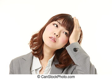 young Japanese businesswoman has lost her memory - studio...