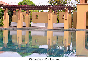 Swimming Pool With Reflection