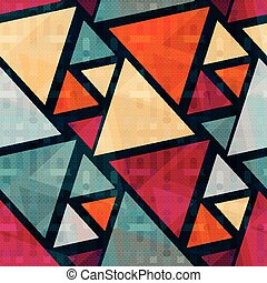 colored triangles seamless geometric background for your design