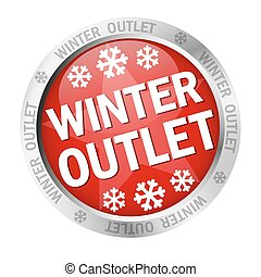 Button - Winter Outlet - colored button with banner and text...