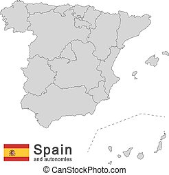 Spain and autonomies - european country Spain and autonomies...