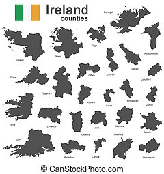 Ireland and counties - european country Ireland and counties...
