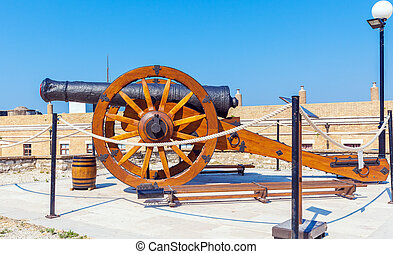 Antique Canon Inside old fortress, Corfu