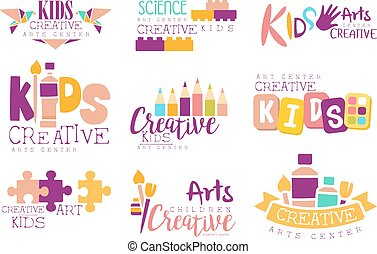 Kids Creative And Science Class Template Promotional Logo...