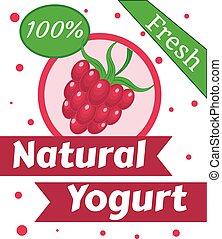 Natural berry Yogurt Vector